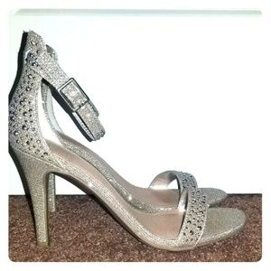 Studded Material Girl 3.5 inch Silver Heels